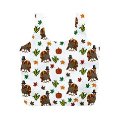 Thanksgiving Turkey  Full Print Recycle Bags (m)  by Valentinaart