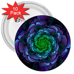 Beautiful Purple & Green Aeonium Arboreum Zwartkop 3  Buttons (10 Pack)  by jayaprime