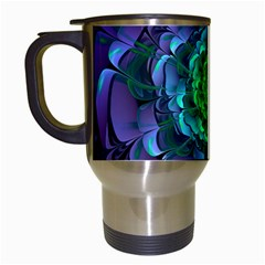 Beautiful Purple & Green Aeonium Arboreum Zwartkop Travel Mugs (white) by jayaprime