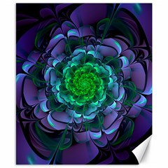 Beautiful Purple & Green Aeonium Arboreum Zwartkop Canvas 8  X 10  by jayaprime