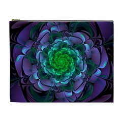 Beautiful Purple & Green Aeonium Arboreum Zwartkop Cosmetic Bag (xl) by jayaprime