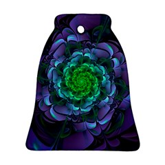 Beautiful Purple & Green Aeonium Arboreum Zwartkop Ornament (bell) by jayaprime