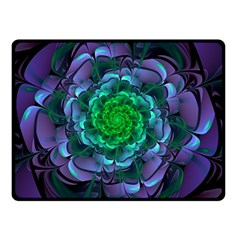Beautiful Purple & Green Aeonium Arboreum Zwartkop Double Sided Fleece Blanket (small)  by jayaprime