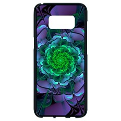 Beautiful Purple & Green Aeonium Arboreum Zwartkop Samsung Galaxy S8 Black Seamless Case by jayaprime