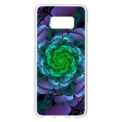 Beautiful Purple & Green Aeonium Arboreum Zwartkop Samsung Galaxy S8 Plus White Seamless Case by jayaprime