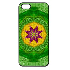 Feathers In The Sunshine Mandala Apple Iphone 5 Seamless Case (black) by pepitasart