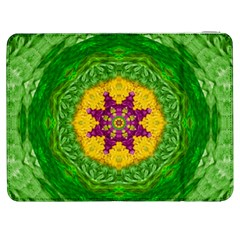 Feathers In The Sunshine Mandala Samsung Galaxy Tab 7  P1000 Flip Case by pepitasart