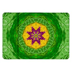 Feathers In The Sunshine Mandala Samsung Galaxy Tab 8 9  P7300 Flip Case by pepitasart