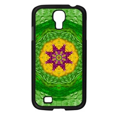Feathers In The Sunshine Mandala Samsung Galaxy S4 I9500/ I9505 Case (black) by pepitasart