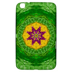 Feathers In The Sunshine Mandala Samsung Galaxy Tab 3 (8 ) T3100 Hardshell Case  by pepitasart