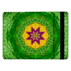 Feathers In The Sunshine Mandala Samsung Galaxy Tab Pro 12 2  Flip Case by pepitasart