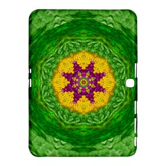 Feathers In The Sunshine Mandala Samsung Galaxy Tab 4 (10 1 ) Hardshell Case  by pepitasart
