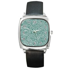 Design Art Wesley Fontes Square Metal Watch by wesleystores