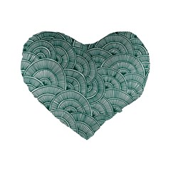 Design Art Wesley Fontes Standard 16  Premium Flano Heart Shape Cushions by wesleystores