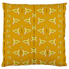 Fishes Talking About Love And   Yellow Stuff Standard Flano Cushion Case (one Side) by pepitasart