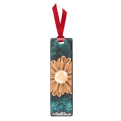 Beautiful Paradise Chrysanthemum Of Orange And Aqua Small Book Marks by jayaprime