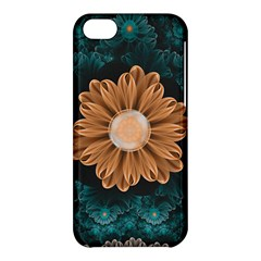 Beautiful Paradise Chrysanthemum Of Orange And Aqua Apple Iphone 5c Hardshell Case by jayaprime