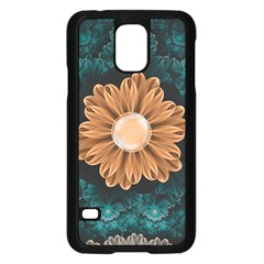 Beautiful Paradise Chrysanthemum Of Orange And Aqua Samsung Galaxy S5 Case (black) by jayaprime
