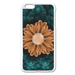 Beautiful Paradise Chrysanthemum Of Orange And Aqua Apple Iphone 6 Plus/6s Plus Enamel White Case