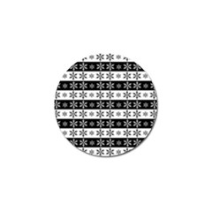 Snowflakes   Christmas Pattern Golf Ball Marker (4 Pack) by Valentinaart