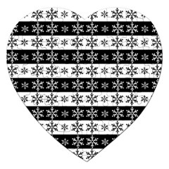 Snowflakes   Christmas Pattern Jigsaw Puzzle (heart) by Valentinaart