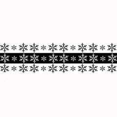 Snowflakes   Christmas Pattern Large Bar Mats by Valentinaart