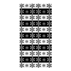 Snowflakes   Christmas Pattern Shower Curtain 36  X 72  (stall)  by Valentinaart