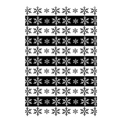 Snowflakes   Christmas Pattern Shower Curtain 48  X 72  (small)  by Valentinaart