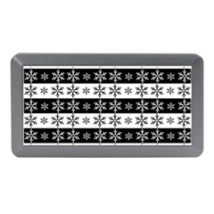 Snowflakes   Christmas Pattern Memory Card Reader (mini) by Valentinaart