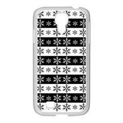 Snowflakes   Christmas Pattern Samsung Galaxy S4 I9500/ I9505 Case (white) by Valentinaart