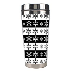 Snowflakes   Christmas Pattern Stainless Steel Travel Tumblers by Valentinaart