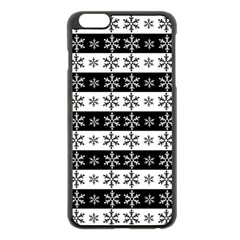 Snowflakes   Christmas Pattern Apple Iphone 6 Plus/6s Plus Black Enamel Case