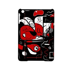 Red Black And White Abstraction Ipad Mini 2 Hardshell Cases by Valentinaart