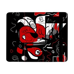 Red Black And White Abstraction Samsung Galaxy Tab Pro 8 4  Flip Case