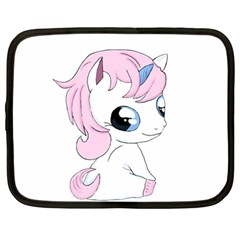 Baby Unicorn Netbook Case (large) by Valentinaart