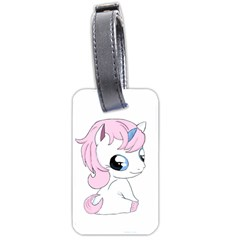 Baby Unicorn Luggage Tags (two Sides) by Valentinaart