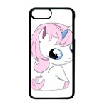 Baby unicorn Apple iPhone 8 Plus Seamless Case (Black) Front