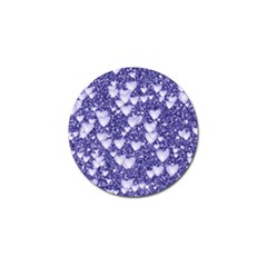 Hearts On Sparkling Glitter Print, Blue Golf Ball Marker (4 Pack) by MoreColorsinLife