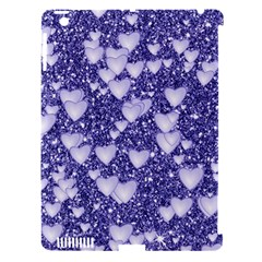 Hearts On Sparkling Glitter Print, Blue Apple Ipad 3/4 Hardshell Case (compatible With Smart Cover) by MoreColorsinLife
