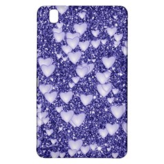 Hearts On Sparkling Glitter Print, Blue Samsung Galaxy Tab Pro 8 4 Hardshell Case by MoreColorsinLife