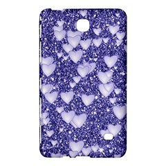 Hearts On Sparkling Glitter Print, Blue Samsung Galaxy Tab 4 (7 ) Hardshell Case