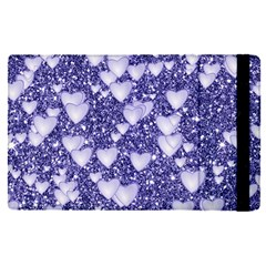Hearts On Sparkling Glitter Print, Blue Apple Ipad Pro 12 9   Flip Case by MoreColorsinLife