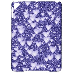 Hearts On Sparkling Glitter Print, Blue Apple Ipad Pro 9 7   Hardshell Case by MoreColorsinLife