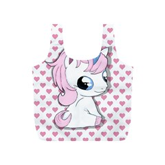 Baby Unicorn Full Print Recycle Bags (s)  by Valentinaart