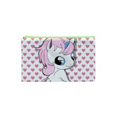 Baby Unicorn Cosmetic Bag (xs) by Valentinaart