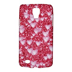 Hearts On Sparkling Glitter Print, Red Galaxy S4 Active by MoreColorsinLife