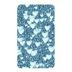 Hearts On Sparkling Glitter Print, Teal Memory Card Reader