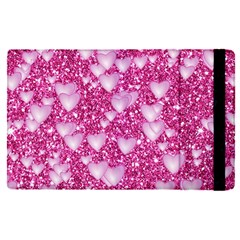 Hearts On Sparkling Glitter Print, Pink Apple Ipad Pro 12 9   Flip Case by MoreColorsinLife