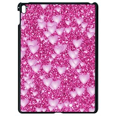 Hearts On Sparkling Glitter Print, Pink Apple Ipad Pro 9 7   Black Seamless Case by MoreColorsinLife