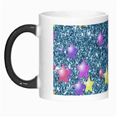 Stars On Sparkling Glitter Print, Blue Morph Mugs by MoreColorsinLife